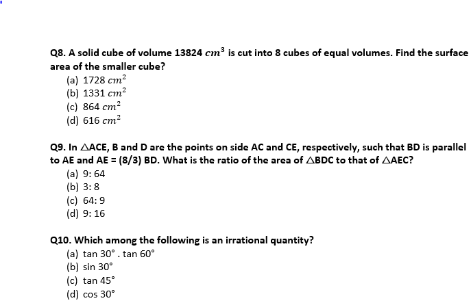 Target SSC Exams 2021-22 10000+ Questions Attempt Maths Quiz | Day 206_70.1