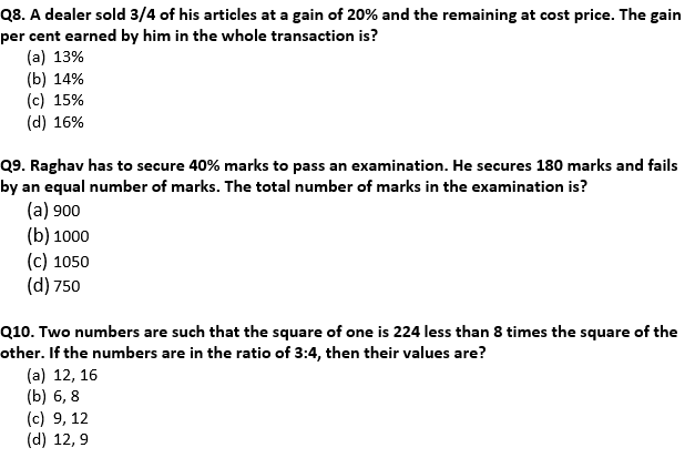 Target SSC Exams 2021-22 10000+ Questions Attempt Maths Quiz | Day 207_70.1