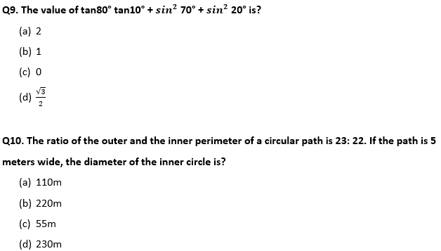 Target SSC Exams 2021-22 10000+ Questions Attempt Maths Quiz | Day 210_70.1