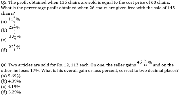 Target SSC Exams 2021-22 10000+ Questions Attempt Maths Quiz | Day 211_50.1