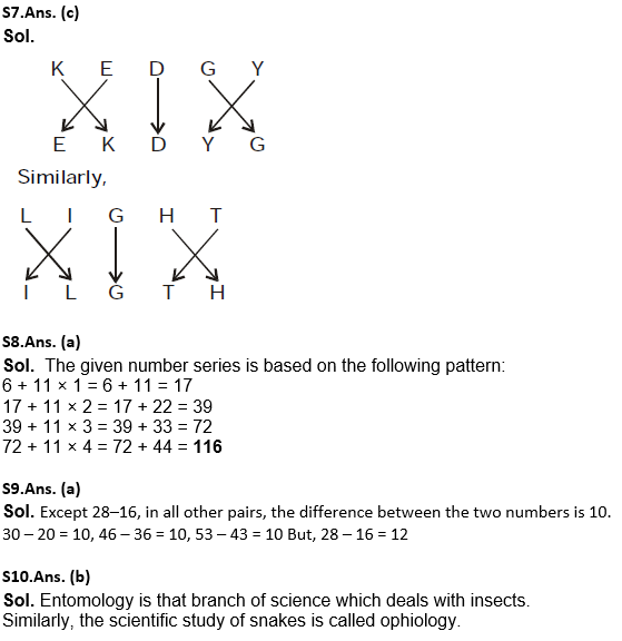 Target SSC Exams 2021-22 10000+ Questions: Attempt Reasoning Quiz | Day 212_120.1