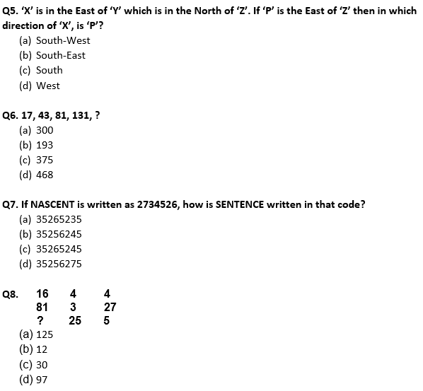 Target SSC Exams 2021-22 10000+ Questions: Attempt Reasoning Quiz   Day 213_60.1