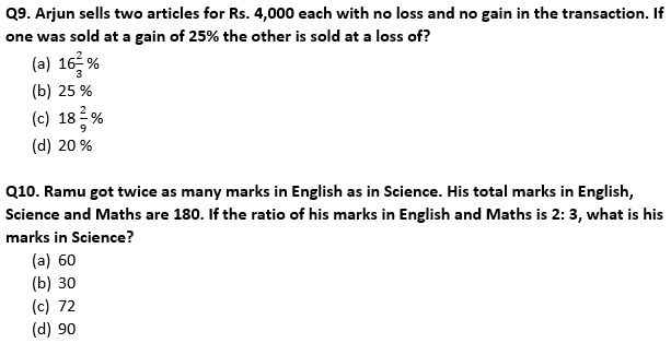 Target SSC Exams 2021-22 10000+ Questions Attempt Maths Quiz   Day 214_70.1