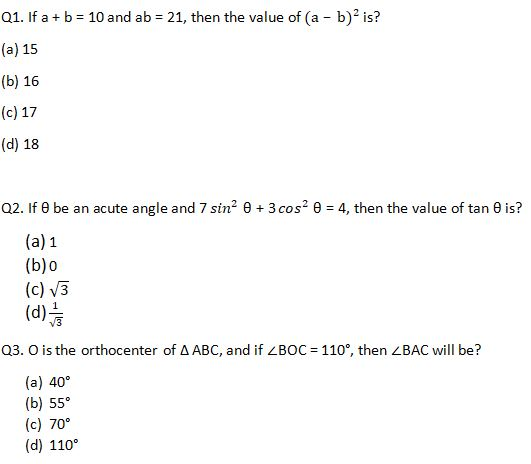 Target SSC Exams 2021-22 10000+ Questions Attempt Maths Quiz | Day 226_50.1