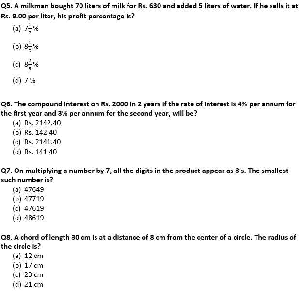 Target SSC Exams 2021-22 10000+ Questions Attempt Maths Quiz | Day 229_60.1