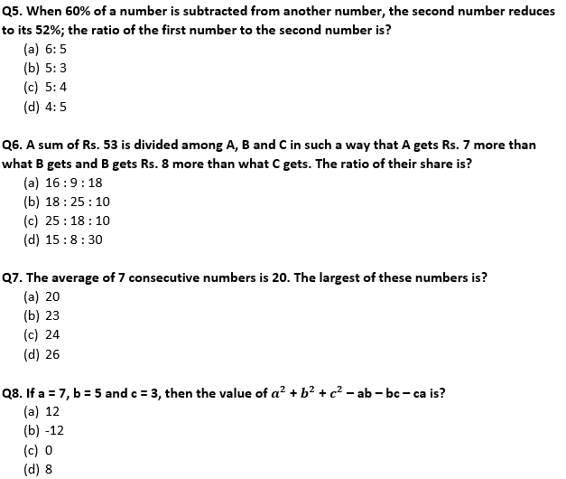 Target SSC Exams 2021-22 10000+ Questions Attempt Maths Quiz | Day 233_60.1