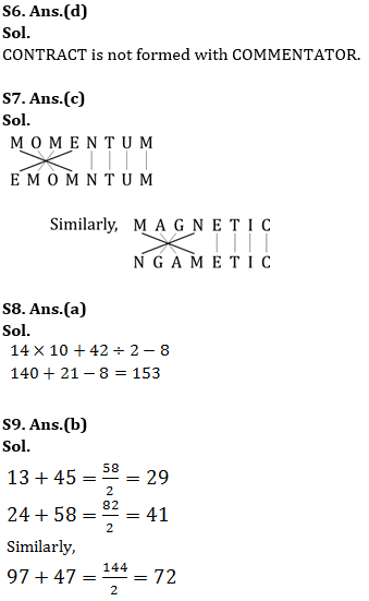 Target SSC Exams 2021-22 10000+ Questions: Attempt Reasoning Quiz | Day 249_70.1