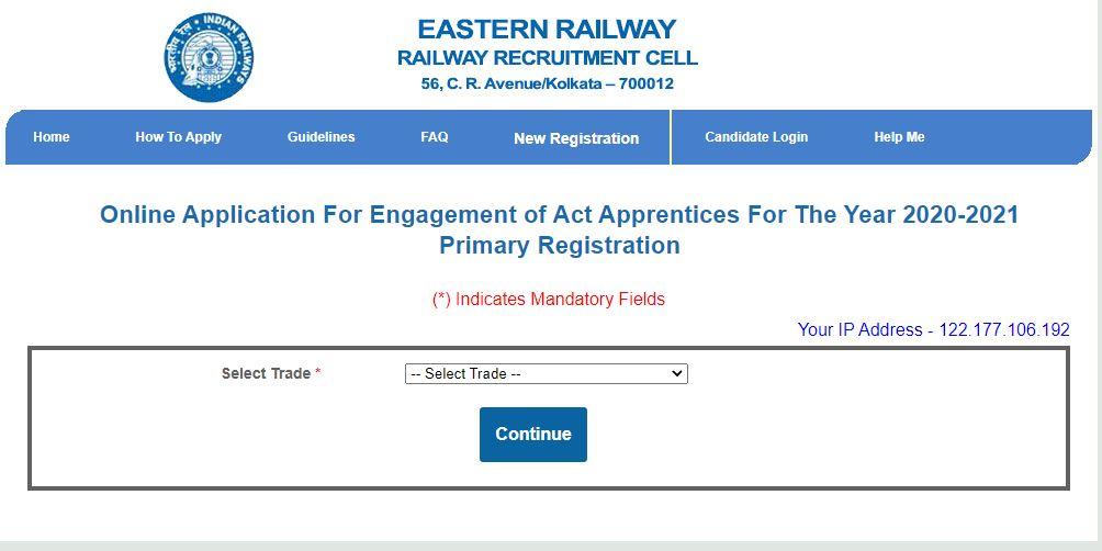 Eastern Railway Recruitment 2021 Apply Online : रेलवे भर्ती सेल (RRC) ने पूर्वी रेलवे भर्ती_50.1