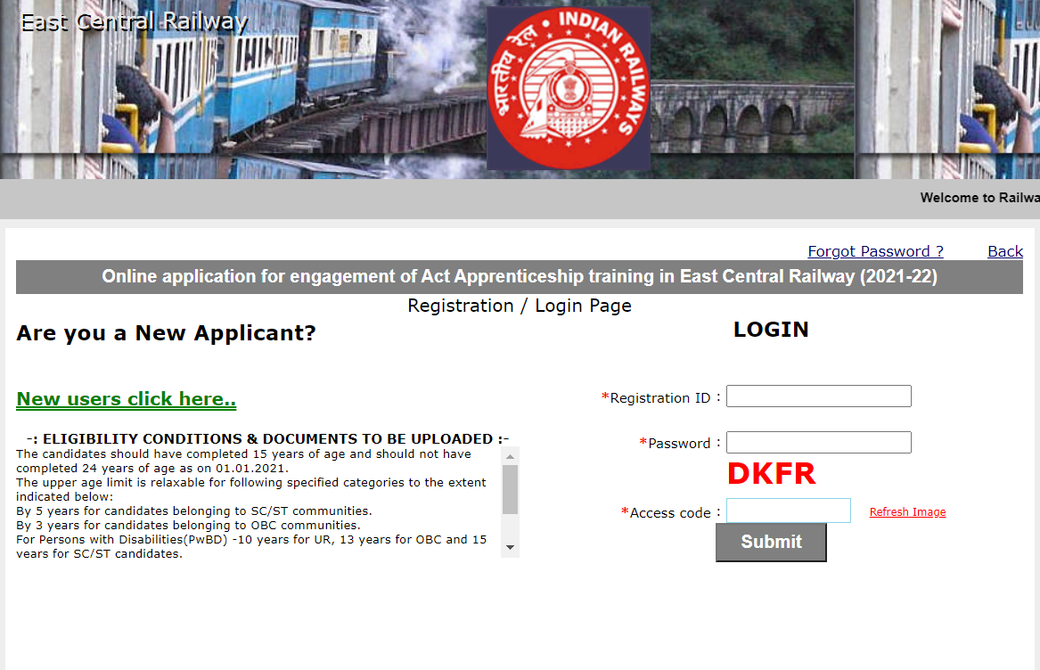 East Central Railway Recruitment 2021 Apply Online : Apply Now for 2206 Posts_50.1