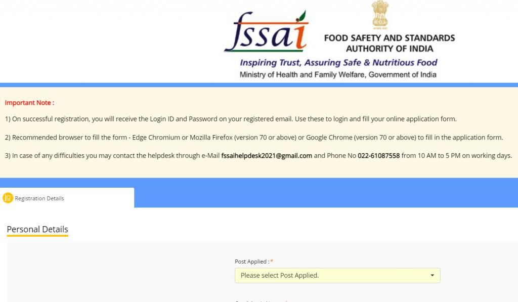 How to Apply Online for the FSSAI Recruitment 2021 : जानिए FSSAI भर्ती_70.1