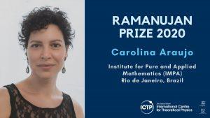 Carolina Araujo awarded 2020 Ramanujan Prize for Young Mathematicians_50.1