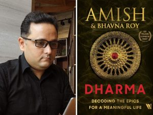 A book titled 'Dharma' authored by Amish Tripathi_50.1