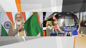 PM Modi flagged off India's first driverless train on Delhi Metro_50.1