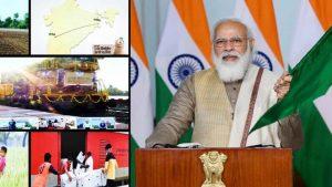 Prime Minister Narendra Modi flags off 100th 'Kisan Rail'_50.1
