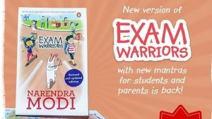 A book titled exam warriors updated version released by PM Modi_50.1