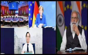 PM Modi Participates in Virtual India-EU Leaders' Meeting_50.1