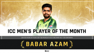 Pakistan's Babar Azam Wins ICC Players of the Month for April 2021_50.1