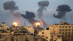 Hostilities between Israel and Hamas escalated after the air strikes_50.1