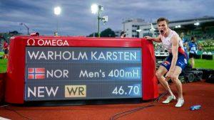 Norway's Karsten Warholm breaks men's 400 metres hurdles world record_50.1