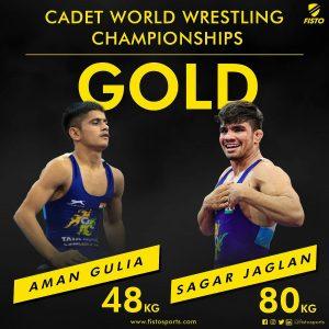 Aman Gulia and Sagar Jaglan become cadet world champions_50.1