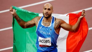 Italy's Marcell Jacobs wins men's 100m gold at Tokyo Olympics 2020_50.1
