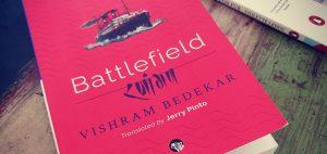 A book titled 'Battlefield' authored by Vishram Bedekar_50.1