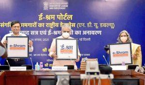 Ministry of Labour & Employment launches e-Shram Portal_50.1