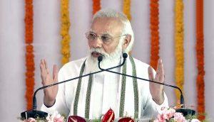 PM Narendra Modi lays foundation stone of Raja Mahendra Pratap Singh University_50.1