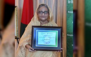 Bangladesh's PM Hasina receives SDG Progress award_50.1