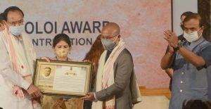 M. Venkaiah Naidu presented Lokapriya Gopinath Bordoloi Award_50.1