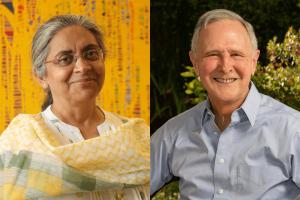 Prof Eric Hanushek and Dr. Rukmini Banerji awarded the 2021 Yidan Prize_50.1