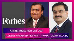 Mukesh Ambani tops Forbes India Rich List 2021_50.1